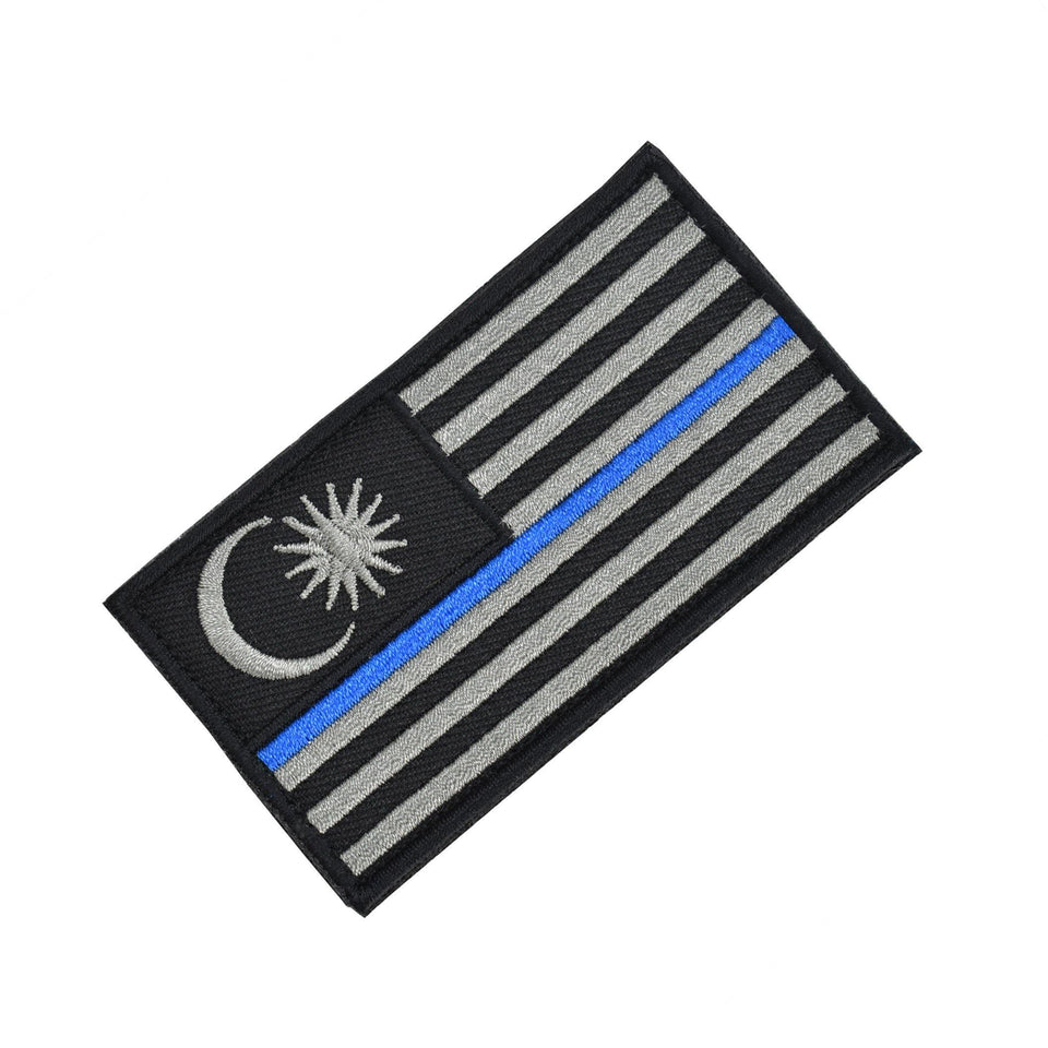 """Thin Blue Line"" Tactical Patch - Thomas Tools"