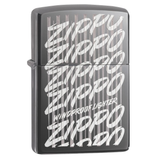 Zippo Script 29631 Black Ice Lighter - Thomas Tools