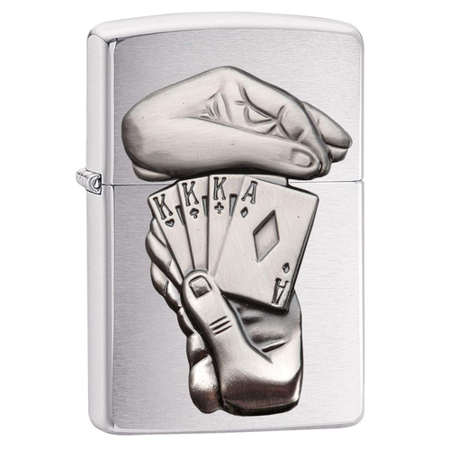 Zippo Card 29396 Full House Emblem Lighter
