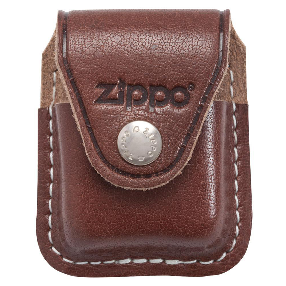 Zippo Accessory Brown Lighter Pouch- Clip
