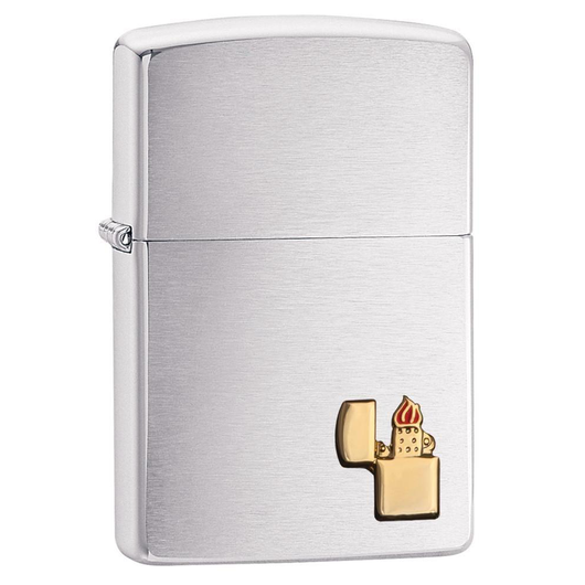 Zippo Logo 29102 Gold Emblem Lighter - Thomas Tools