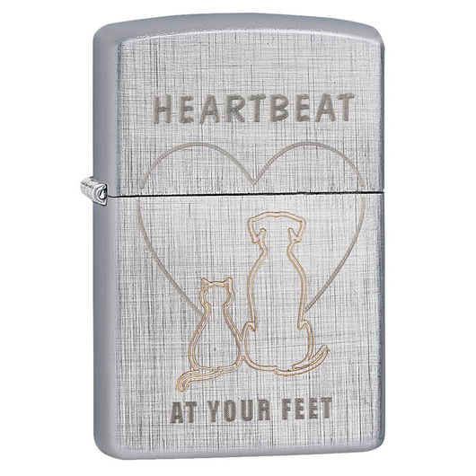 Zippo Love 29258 Heartbeat At Your Feet Lighter - Thomas Tools
