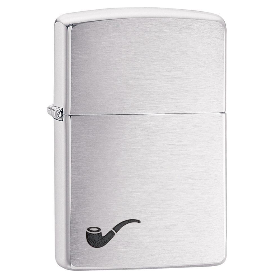 Zippo Pipe 200PL Brushed Chrome Lighter - Thomas Tools