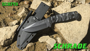 Schrade SCHF59 Full Tang Fixed (Ferro Rod Included) - Thomas Tools
