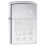 Zippo American Flag 29430 Made in USA with Flag Lighter - Thomas Tools