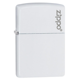 Zippo Matte Logo 214ZL White Lighter - Thomas Tools