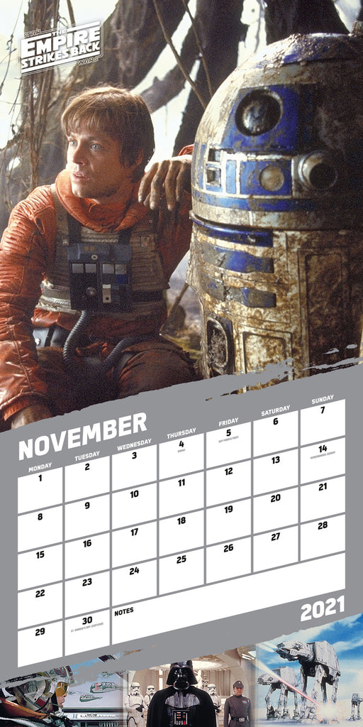 Star Wars Classic 2021 Square Wall Calendar November