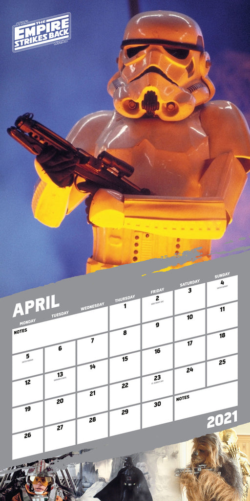 Star Wars Classic 2021 Square Wall Calendar April