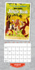 Disney Vintage Posters 2021 Square Wall Calendar August