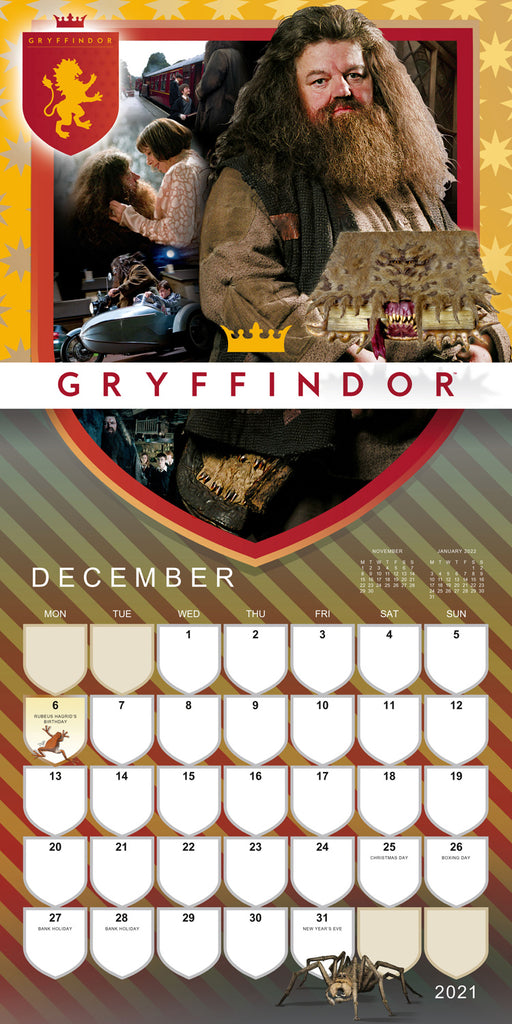 Harry Potter 2021 Square Wall Calendar December