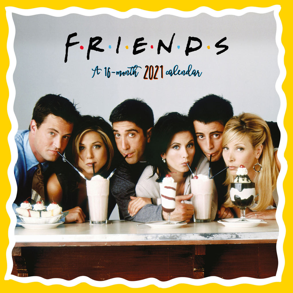 Friends Official 2021 Square Wall Calendar Front