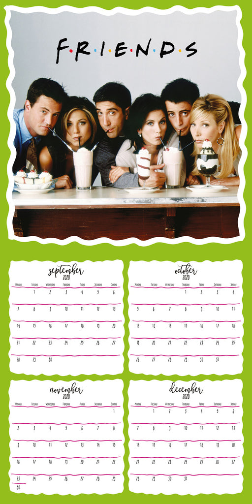 Friends Official 2021 Square Wall Calendar 16 Month Inside Page