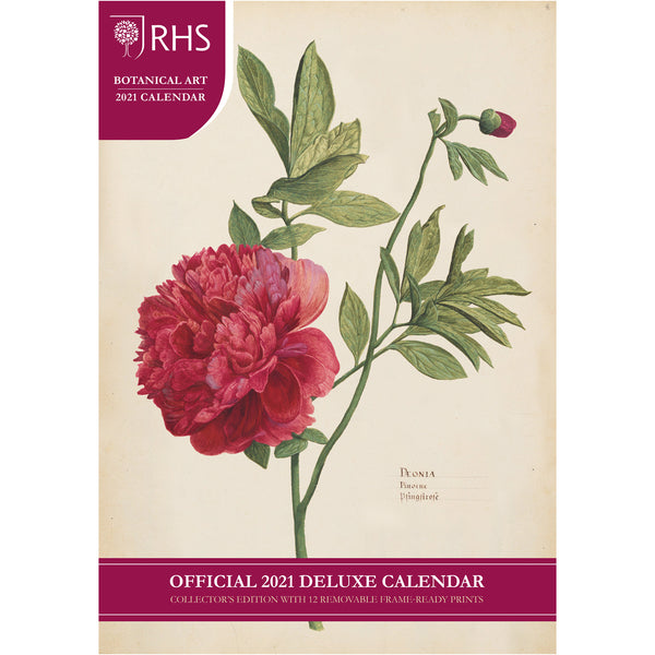 Official Royal Horticultural Society 2021 Calendar - A3 Deluxe Front