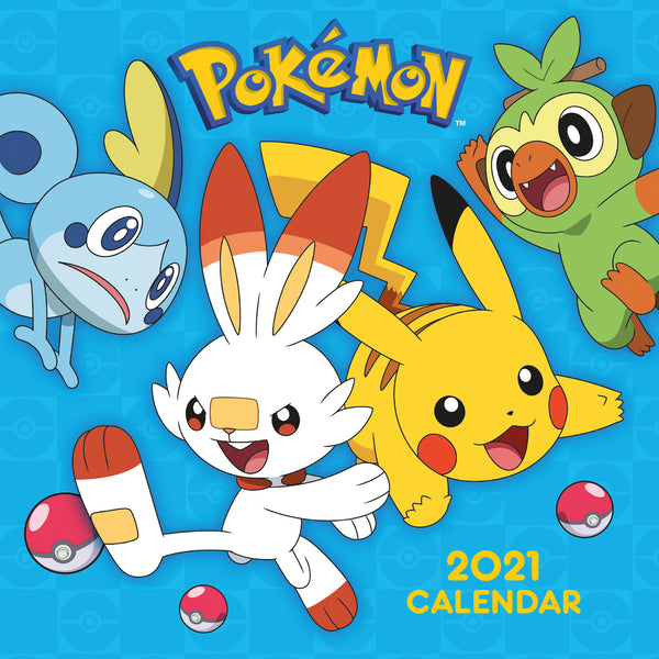 Pokemon 2021 Square Calendar Front Cover