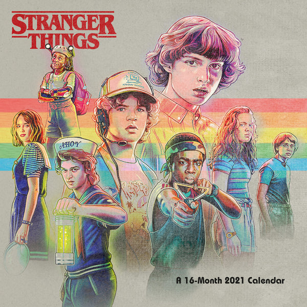 Stranger Things 2021 Square Wall Calendar Front