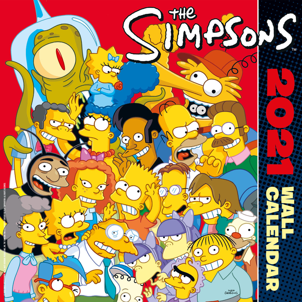 The Simpsons 2021 Square Wall Calendar Front