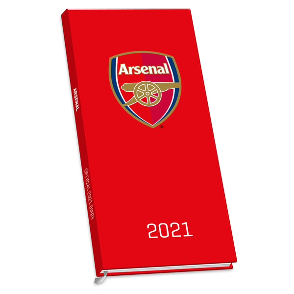 Arsenal Football Club 2021 Slim Diary FRONT