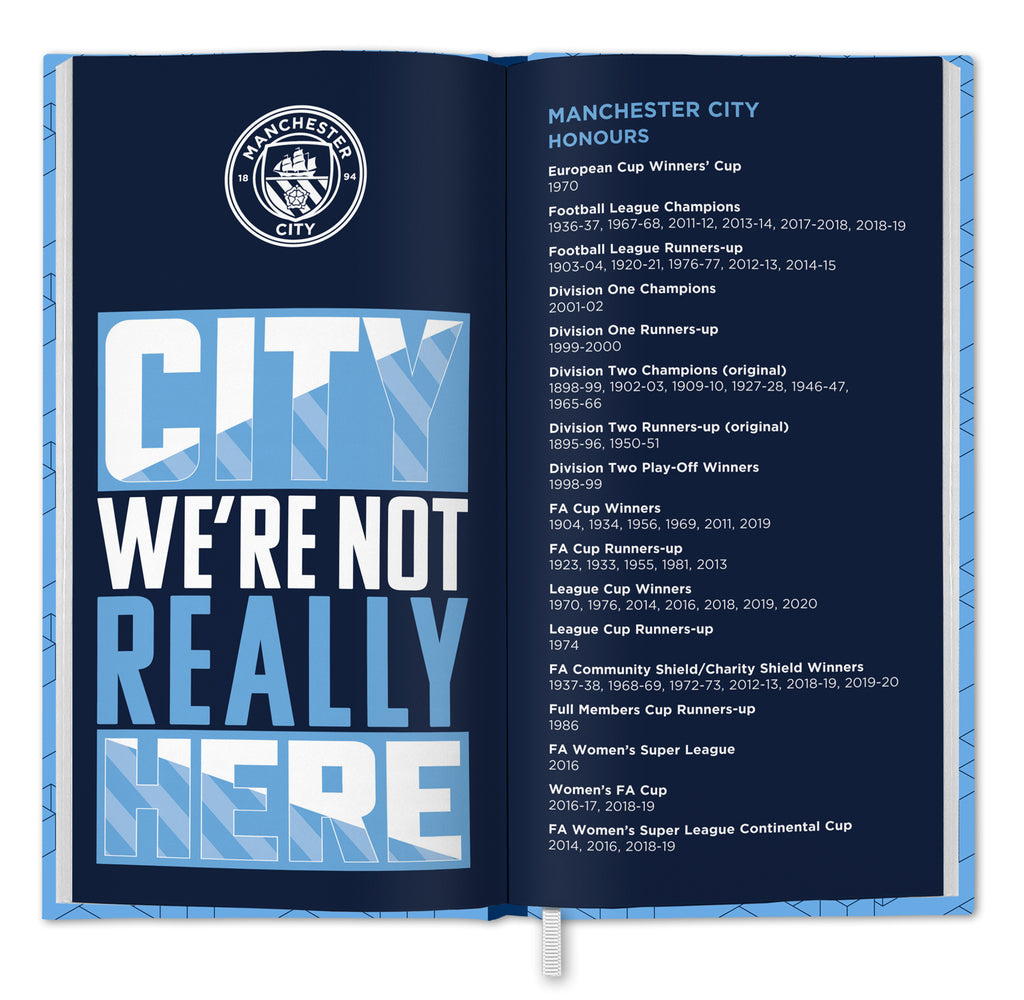 Manchester City Football Club 2021 Slim Diary INSIDE