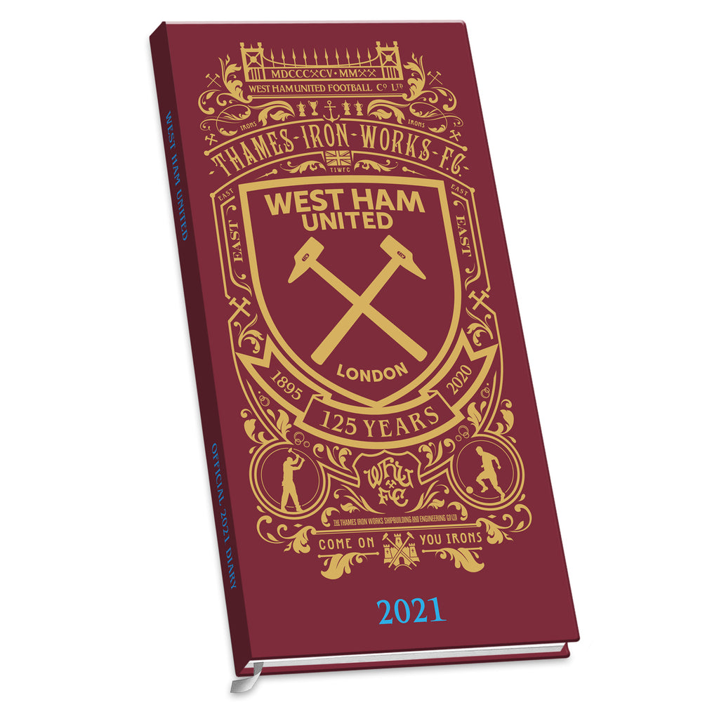 West Ham Football Club 2021 Slim Diary FRONT