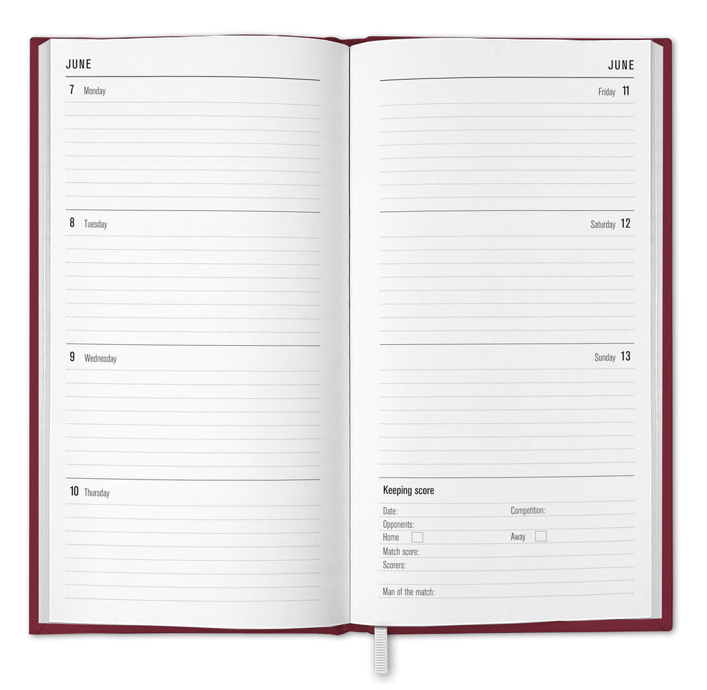 West Ham Football Club 2021 Slim Diary INSIDE 2