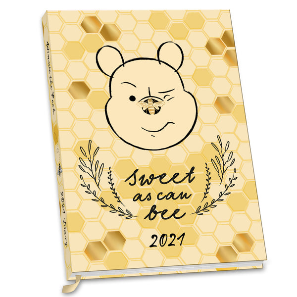 Winnie The Pooh 2021 A5 Diary FRONT