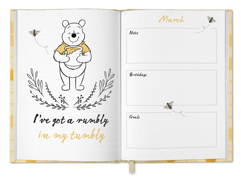 Winnie The Pooh 2021 A5 Diary INSIDE