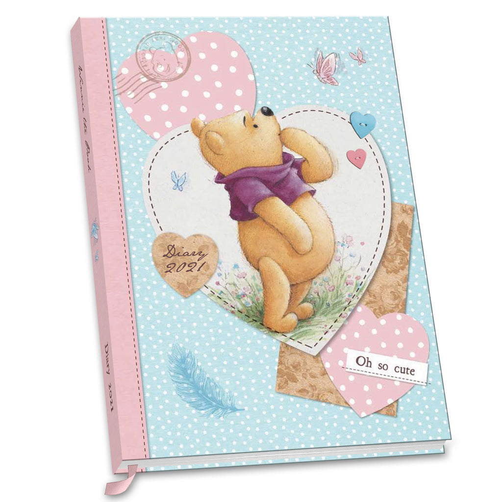 Winnie The Pooh Classic Official 2021 A5 Diary FRONT