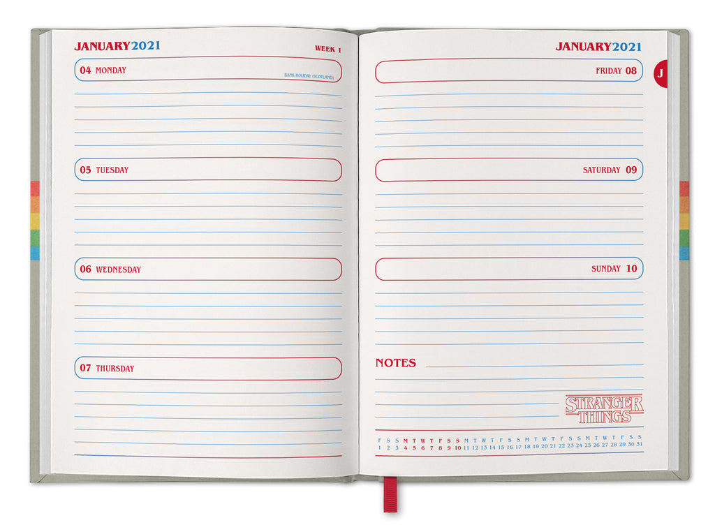 Stranger Things Official 2021 A5 Diary Inside
