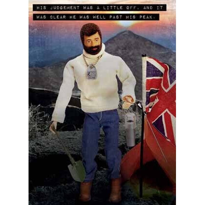 Action Man  Birthday Card  Past his peak