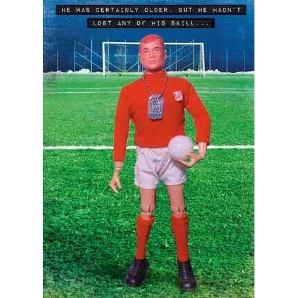 Action Man Football Birthday Card