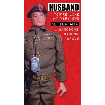 Action Man  Husband Birthday Card