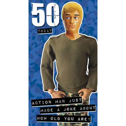Action Man  50th Birthday Card