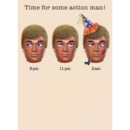 Action Man Birthday Card Time for some action man!...