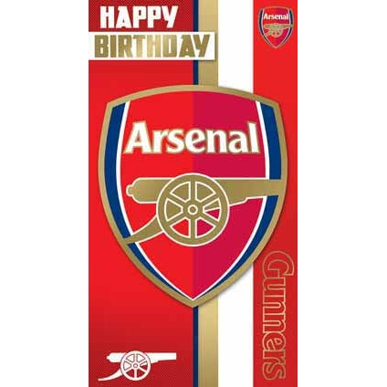 Arsenal Happy Birthday Crest Card