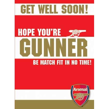 Arsenal Get Well Soon Greeting Card