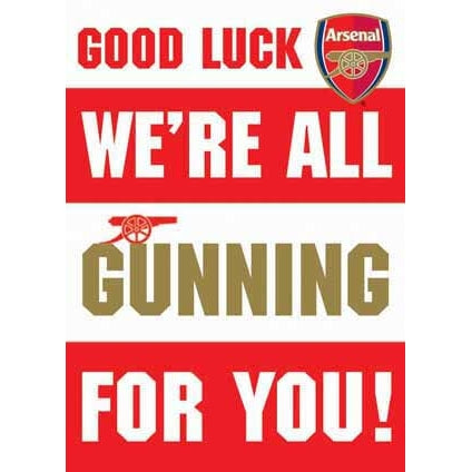 Arsenal Good Luck Greeting Card