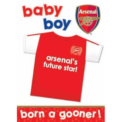 Arsenal Baby Boy Greeting Card