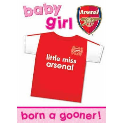 Arsenal Baby Girl Greeting Card