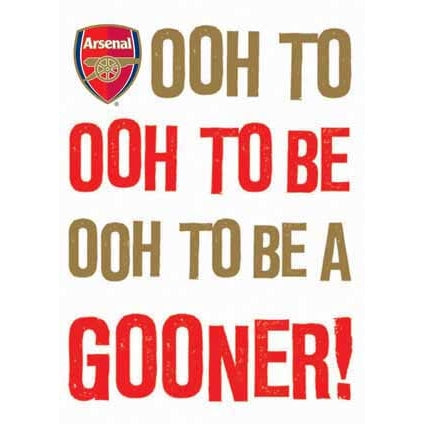Arsenal Ooh To Be A Gooner Greeting Card