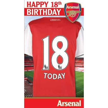 Arsenal Happy 18th Birthday Card