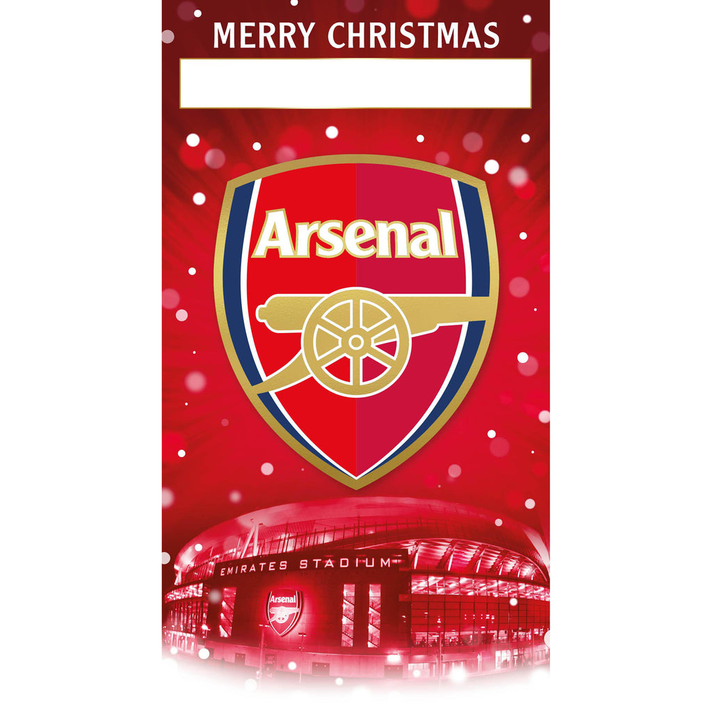 Arsenal FC Any Name Christmas Card Front