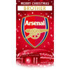 Arsenal FC Any Name Christmas Card Front 2