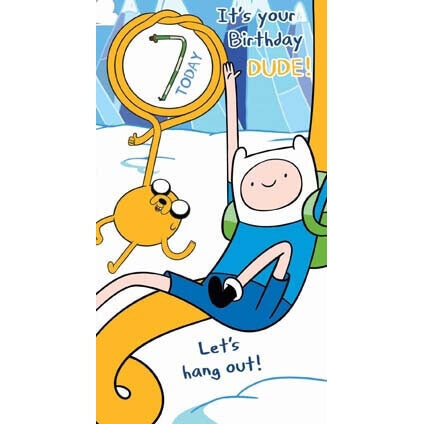 Adventure Time Age 7 Birthday Card