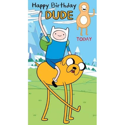 Adventure Time Age 8 Birthday Card