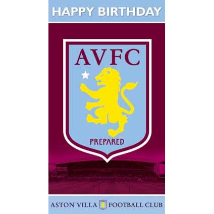 Aston Villa Happy Birthday Crest Greeting Card