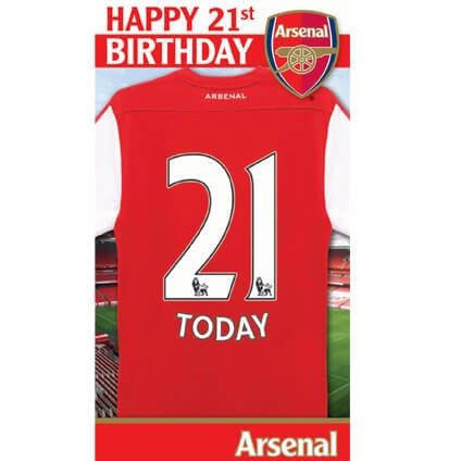 Arsenal Happy 21st Birthday Card