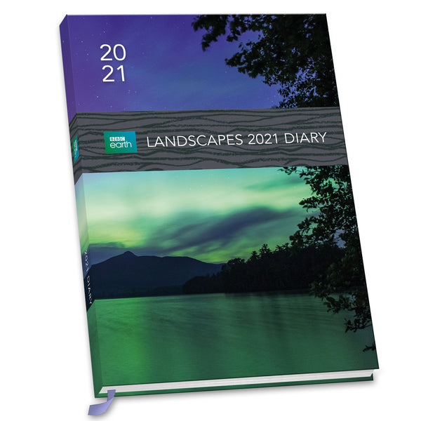 BBC Earth Landscapes 2021 A5 Diary Front