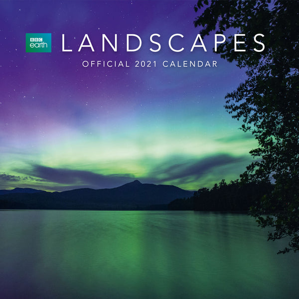 BBC Earth Landscapes 2021 Calendar Front