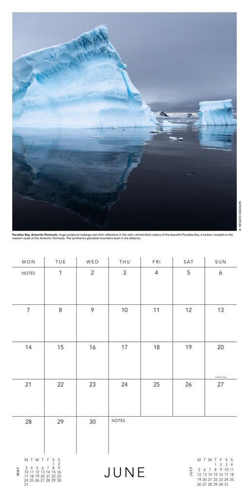 BBC Earth Landscapes 2021 Calendar Inside