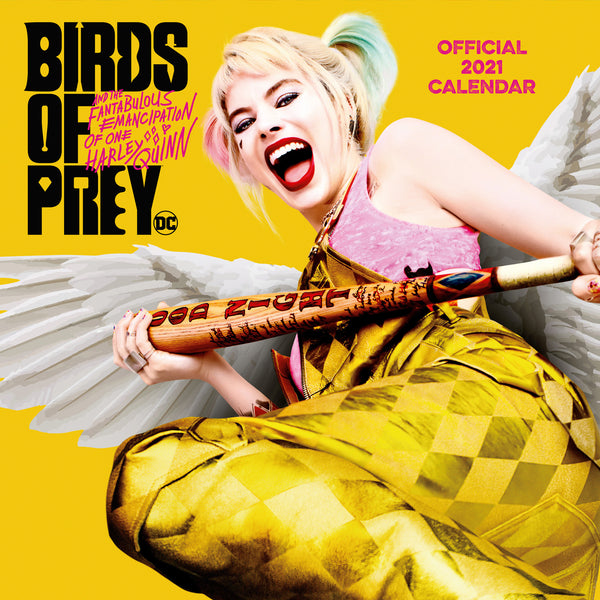 Birds of Prey Official 2021 Square Wall Calendar Front